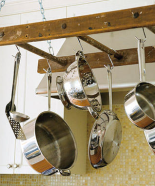 Recycled Ladder Pot Rack