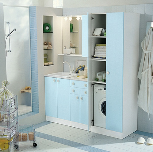 Bathroom laundry design