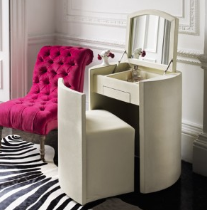 Space saving dressing table