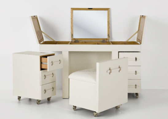 Fold out dressing table