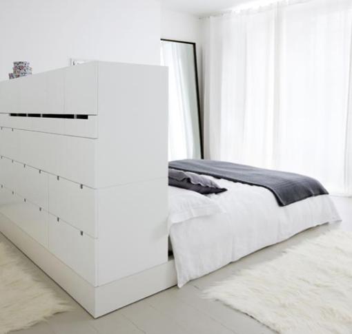 Headboard storage