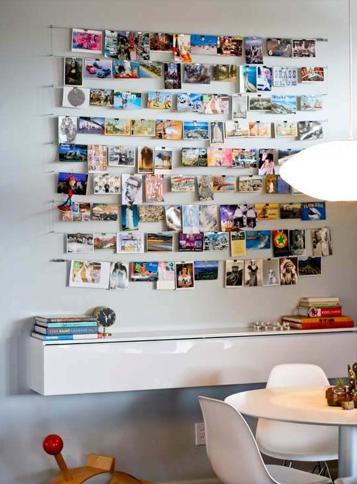 travel photo wall